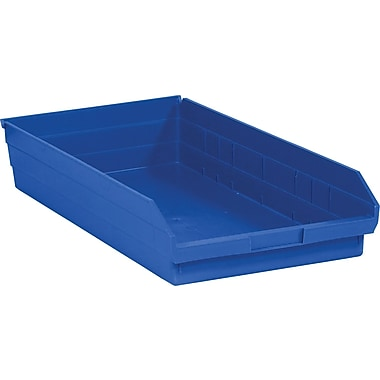BOX 23 5/8in. x 11 1/8in. x 4in. Plastic Shelf Bin Box, Blue