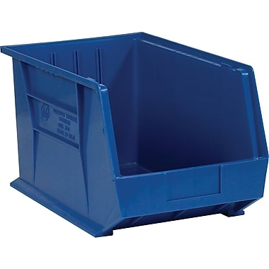 BOX 18in. x 11in. x 10in. Plastic Stack and Hang Bin Box, Blue