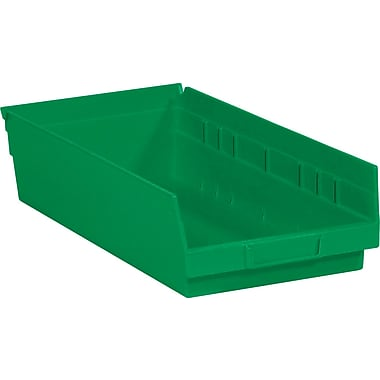 BOX 17 7/8in. x 8 3/8in. x 4in. Plastic Shelf Bin Box, Green
