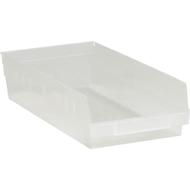 BOX 17 7/8in. x 8 3/8in. x 4in. Plastic Shelf Bin Box, Clear