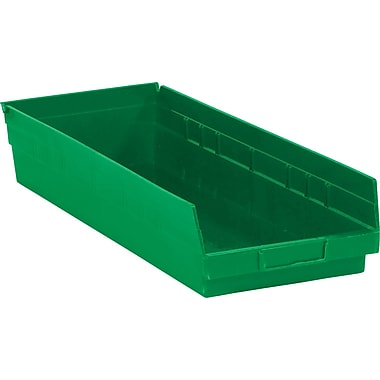 BOX 17 7/8in. x 6 5/8in. x 4in. Plastic Shelf Bin Box, Green