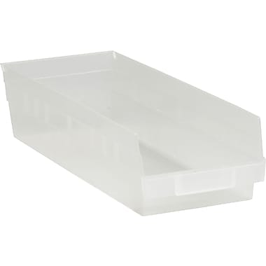BOX 17 7/8in. x 6 5/8in. x 4in. Plastic Shelf Bin Box, Clear