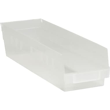BOX 17 7/8in. x 4 1/8in. x 4in. Plastic Shelf Bin Box, Clear