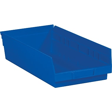 BOX 17 7/8in. x 11 1/8in. x 4in. Plastic Shelf Bin Box, Blue
