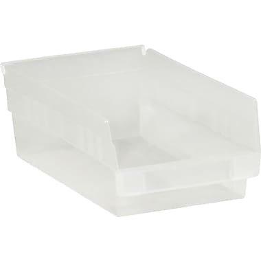 BOX 11 5/8in. x 8 3/8in. x 4in. Plastic Shelf Bin Box, Clear