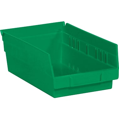 BOX 11 5/8in. x 6 5/8in. x 4in. Plastic Shelf Bin Box, Green