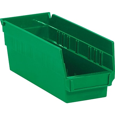 BOX 11 5/8in. x 4 1/8in. x 4in. Plastic Shelf Bin Box, Green