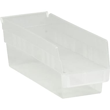 BOX 11 5/8in. x 4 1/8in. x 4in. Plastic Shelf Bin Box, Clear