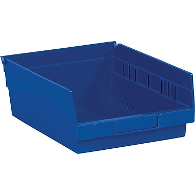 BOX 11 5/8in. x 11 1/8in. x 4in. Plastic Shelf Bin Box, Blue
