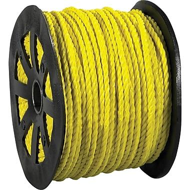BOX 2450 lbs. Twisted Polypropylene Rope, Yellow, 600'