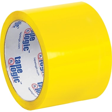 Tape Logic™ 3in. x 55 yds. Yellow Carton Sealing Tape, 24/Case