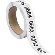 "Tape Logic™ 1"" x 1 1/2"" Consecutive Numbered Labels, 0501-1000"
