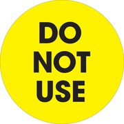 "Tape Logic™ 2"" Circle ""Do Not Use"" Label, Fluorescent Yellow, 500/Roll"