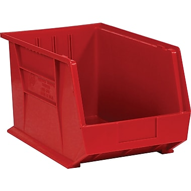 BOX 18in. x 11in. x 10in. Plastic Stack and Hang Bin Box, Red