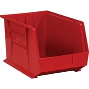 "BOX 18"" x 11"" x 10"" Plastic Stack and Hang Bin Box, Red"