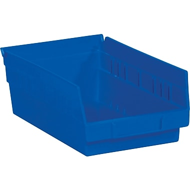 BOX 11 5/8in. x 6 5/8in. x 4in. Plastic Shelf Bin Box, Blue