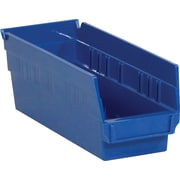 "BOX 11 5/8"" x 4 1/8"" x 4"" Plastic Shelf Bin Box, Blue"