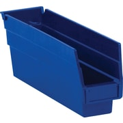 """BOX 11 5/8"""" x 2 3/4"""" x 4"""" Plastic Shelf Bin Box, Blue"""