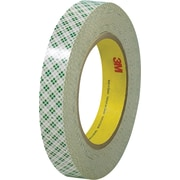 "3M™ 1/2"" x 36 yds. Double Sided Masking Tape 410M, Natural, 72/Case"
