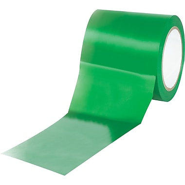 Tape Logic™ 4in. x 36 yds. Solid Vinyl Safety Tape, Green, 3/Pack