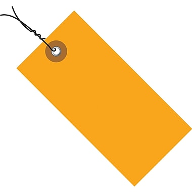 Tyvek® 4 1/4in. x 2 1/8in. Pre-Wired Shipping Tag, Orange, 100/Case
