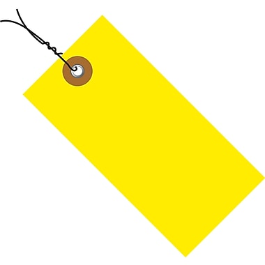 Tyvek® 3 1/4in. x 1 5/8in. Pre-Wired Shipping Tag, Yellow, 100/Case