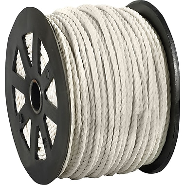 BOX 2450 lbs. Twisted Polypropylene Rope, White, 600'