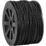 BOX 2450 lbs. Twisted Polypropylene Rope, Black, 600'