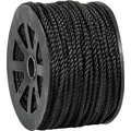 BOX 1150 lbs. Twisted Polypropylene Rope, Black, 600'