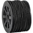 BOX 1150 lbs. Twisted Polypropylene Rope, Black, 600'