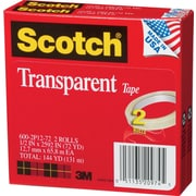 3M™ Scotch® 1/2 x 72 yds. Multi-Task Tape 600, 12/Case