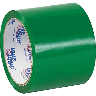 Tape Logic™ 3in. x 55 yds. Green Carton Sealing Tape, 24/Case