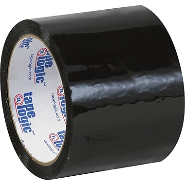 Tape Logic™ 3in. x 55 yds. Black Carton Sealing Tape, 24/Case