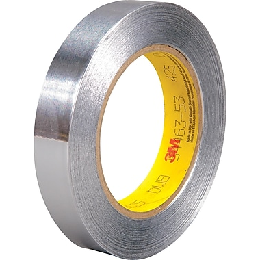 3M™ 1in. x 60 yds. Aluminum Foil Tape 425, Silver, 1/Pack