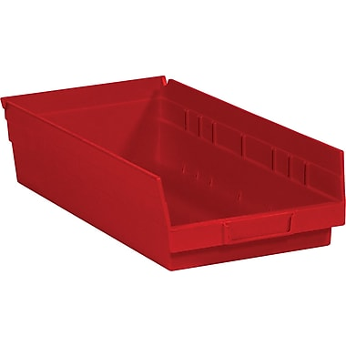 BOX 17 7/8in. x 6 5/8in. x 4in. Plastic Shelf Bin Box, Red