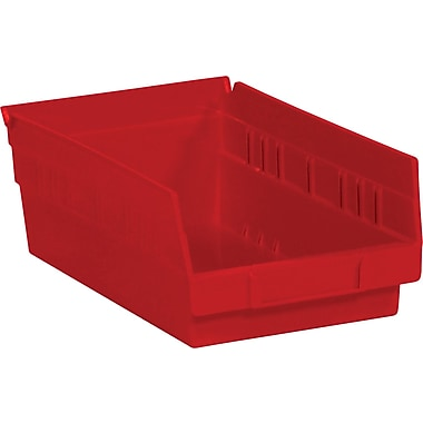 BOX 11 5/8in. x 6 5/8in. x 4in. Plastic Shelf Bin Box, Red