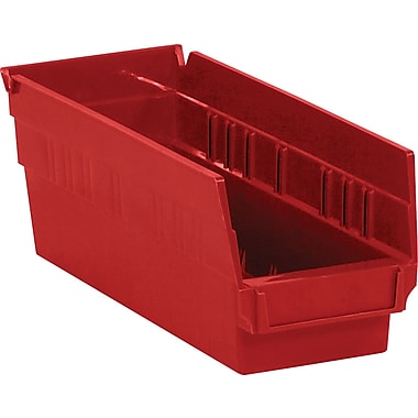 BOX 11 5/8in. x 4 1/8in. x 4in. Plastic Shelf Bin Box, Red