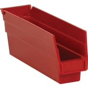 "BOX 11 5/8"" x 2 3/4"" x 4"" Plastic Shelf Bin Box, Red"