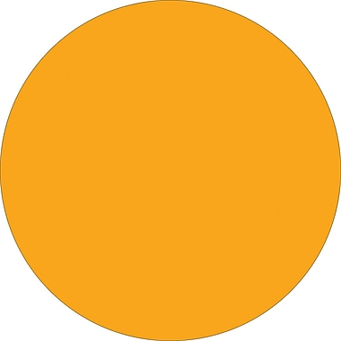 Tape Logic™ 1 1/2in. Circle Inventory Label, Fluorescent Orange, 500/Roll