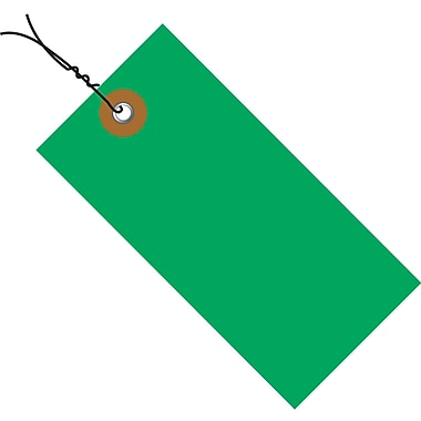 Tyvek® 3 3/4in. x 1 7/8in. Pre-Wired Shipping Tag, Green, 100/Case