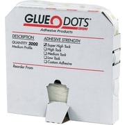 "Dot Shot® Glue Dots® Pro Glue Dots, Medium Profile, Super High Tack, 1/2"", Clear, 2000/Roll"