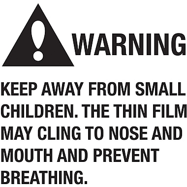 Tape Logic™ Warning Keep Away From Small Children Regulated Label, 2