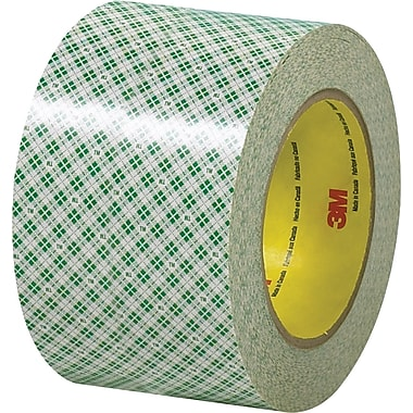 3M™ 3in. x 36 yds. Double Sided Masking Tape 410M, Natural, 12 Rolls