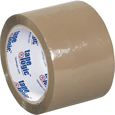 Tape Logic™ 3in. x 55 yds. Acrylic Tape, Tan, 24/Case