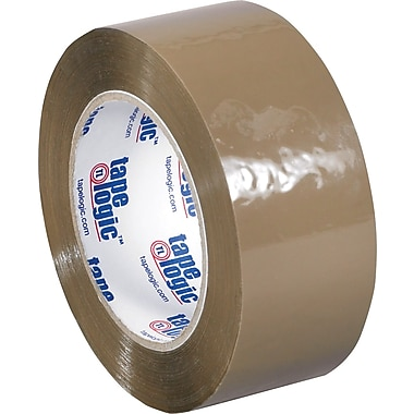 Tape Logic™ 2in. x 55 yds. Acrylic Tape, Tan, 36/Case