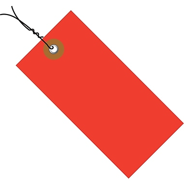 Tyvek® 3 1/4in. x 1 5/8in. Pre-Wired Shipping Tag, Red, 100/Case
