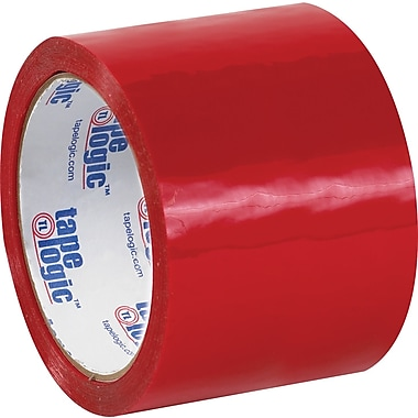 Tape Logic™ 3in. x 55 yds. Red Carton Sealing Tape, 24/Case