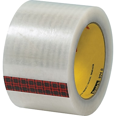 3M™ 3in. x 55 yds. Clear Carton Sealing Tape 371, 24/Case