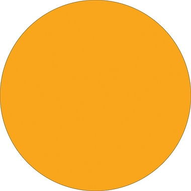 Tape Logic™ 1/2in. Circle Inventory Label, Fluorescent Orange, 500/Roll