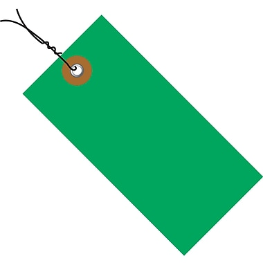 Tyvek® 5 3/4in. x 2 7/8in. Pre-Wired Shipping Tag, Green, 100/Case